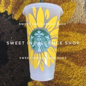 YELLOW Full Bloom Sunflower Cup Starbucks Cup